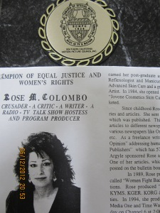 Rose Colombo, Crusader for Equal Rights Radio Host and author